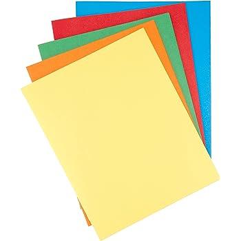 AmazonBasics Twin Pocket File Folders with Fasteners, 25-Pack