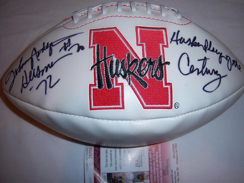 Johnny Rodgers Nebraska Heisman Jsacoa Signed Football  Autographed College Footballs
