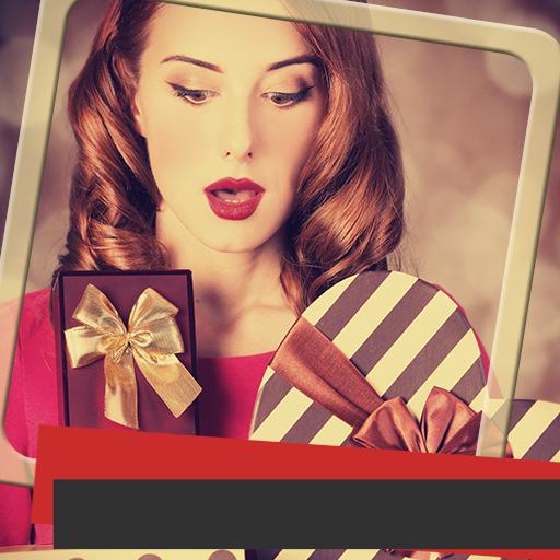 Geschenkbox Rahmen für Fotos