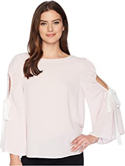 Vince Camuto - Bell Sleeve Tie Cold Shoulder Blouse