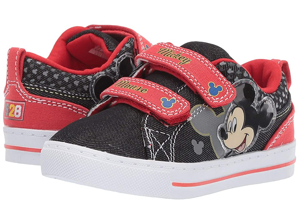 Josmo Kids Mickey Low Top Canvas (Toddler/Little Kid) (Black/Red) Boy