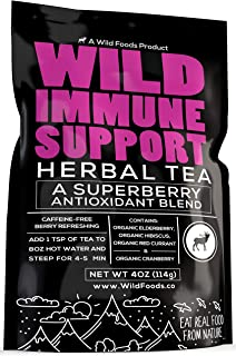 Immune Support Tea with Elderberry, Hibiscus, Currant and Cranberry - Superberry Antioxidant Blend Loose Leaf Herbal Tea P...