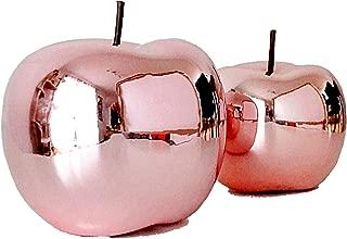 Deco Fruits Pomme en fibre de verre 16*16*13,5 cm blanc brillant