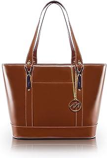 McKlein, M Series, Arya, Top Grain Cowhide Leather, Leather Ladies' Tote with Tablet Pocket, Brown (97714)