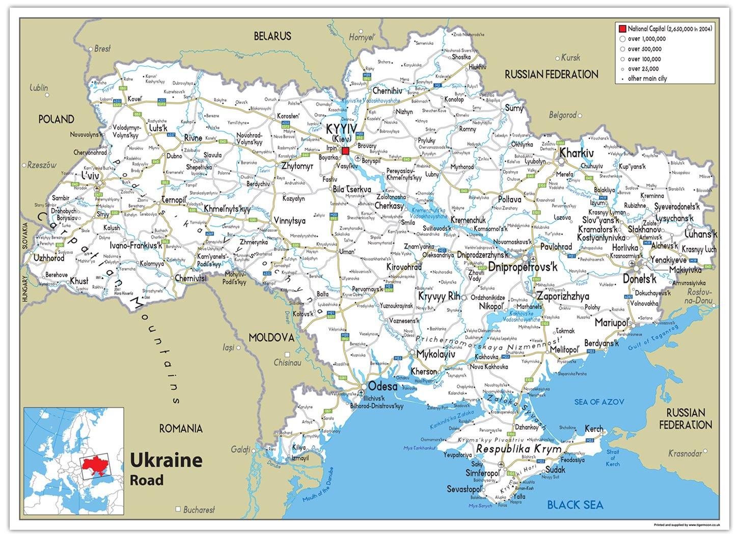 Ucrania Guía – Papel laminado [ga], color transparente A2 Size 42 x 59.4 cm: Amazon.es: Oficina y papelería