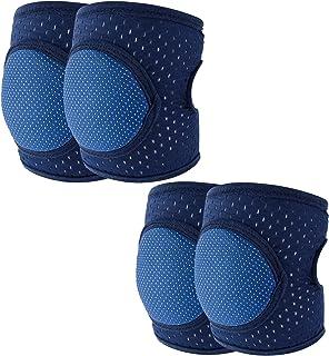 Baby Crawling Anti-Slip Knee pads, Adjustable Unisex Baby Toddlers Kneepads Leg Warmers 2 Pairs