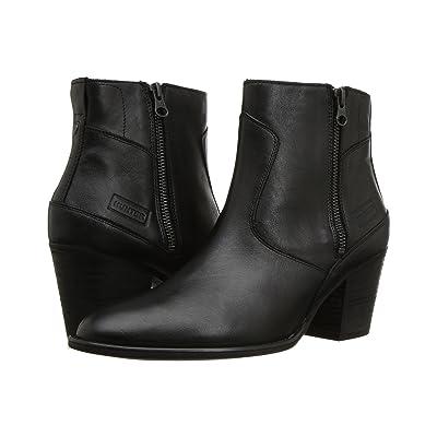 Hunter Refined Zip Boot Leather (Black) Women