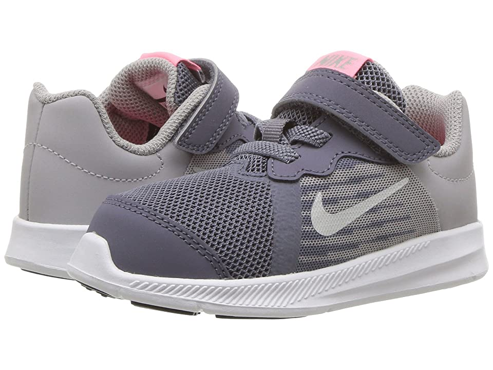 Nike Kids Downshifter 8 (Infant/Toddler) (Light Carbon/Metallic Silver) Girls Shoes