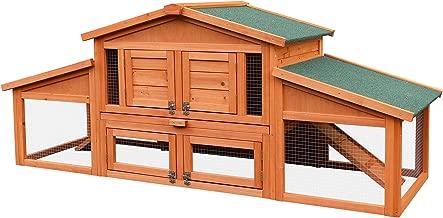 merax 70 inch wooden rabbit hutch