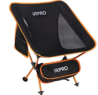 URPRO Outdoor Ultralight Portable Folding Chairs with Carry Bag Heavy Duty Collapsible Chair Camping Folding Chairs Beach ...