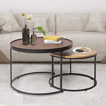 New Home Decor Chambre à Coucher Blanc Côté Coffe activité loft NESTING TABLE SET DE 2