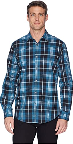 Total Stretch Oversize Exploded Plaid Shirt