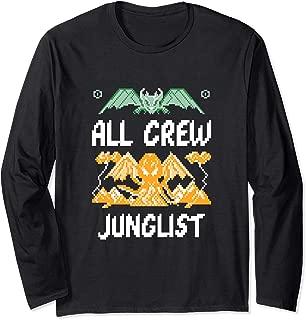 Junglist Retro Gamer Drum and Bass Jungle Music EDM Long Sleeve T-Shirt