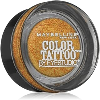 Maybelline New York Eye Studio Color Tattoo Metal 24 Hour Cream Gel Eyeshadow, Gold rush, 0.14 Ounce (Pack of 2)