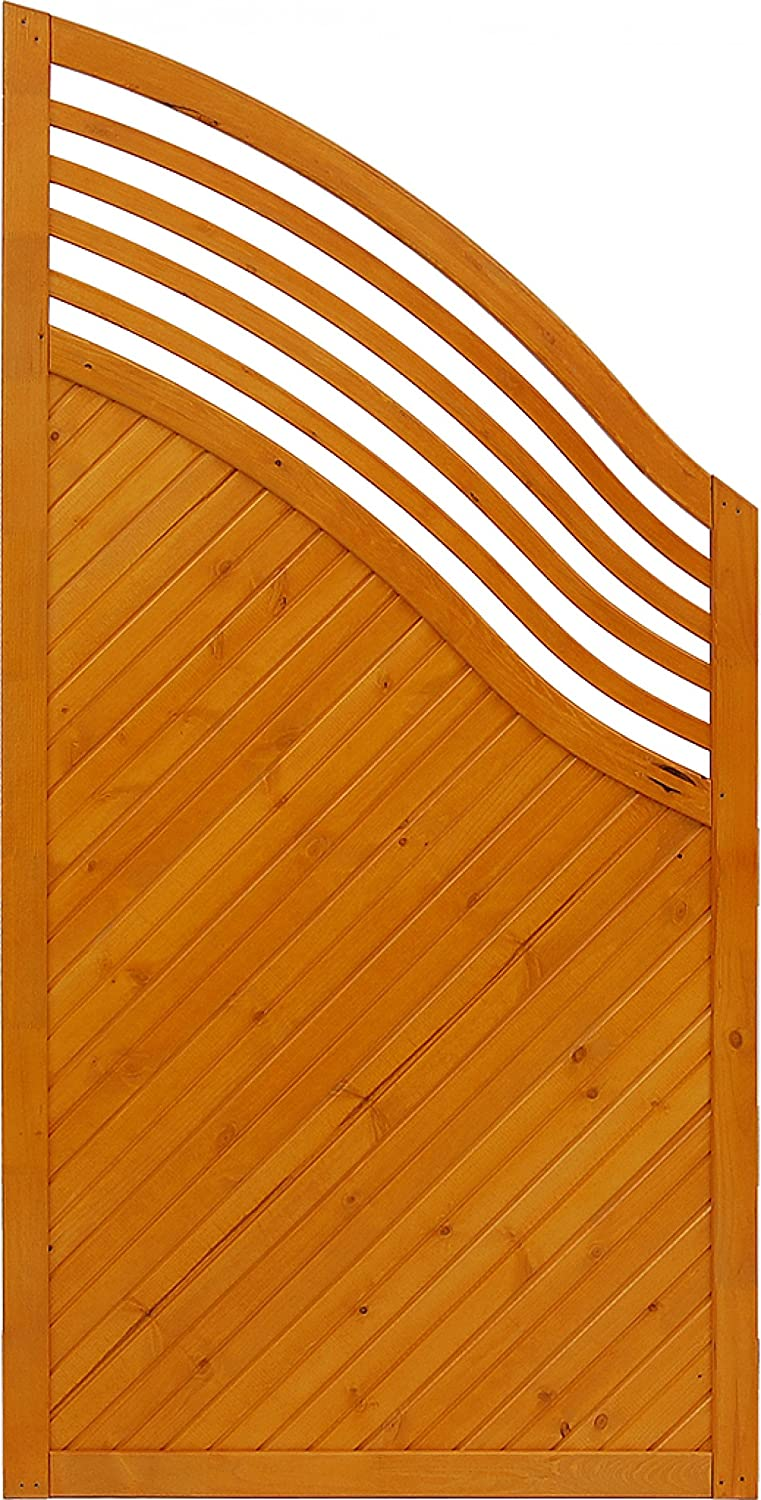 Andrewex wooden fence, privacy, garden fence, fencing panel 180 120 x 90, varnished, pinie