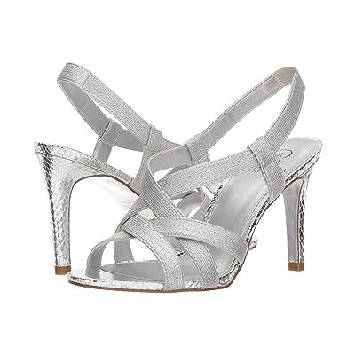 Adrianna Papell Addie (Silver Metallic Elastic) High Heels