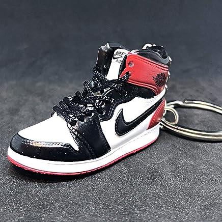 9252450c897 Air Jordan I 1 Retro High Black Toe Chicago OG Sneakers Shoes 3D Keychain  Figure
