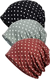 Qunson Women's Soft Chemo Hat Beanie Sleep Cap for Cancer 3 Pack