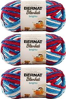 Bulk Buy: Bernat Blanket Yarn (3-Pack) Super Bulky #6 5.3 Ounce 108 Yards Per Skein (Red White Boom)