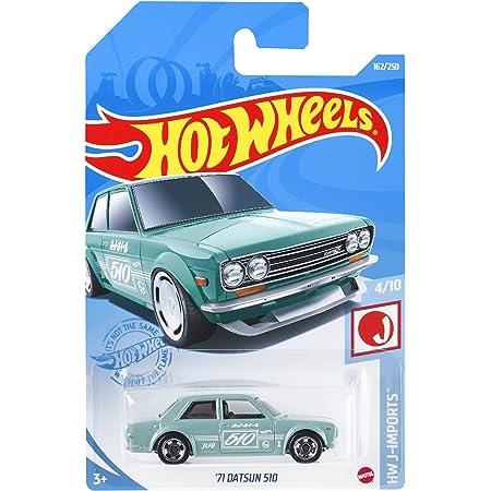 ホットウィール(Hot Wheels) ベーシックカー '71 ダットサン 510 HBN99 水色