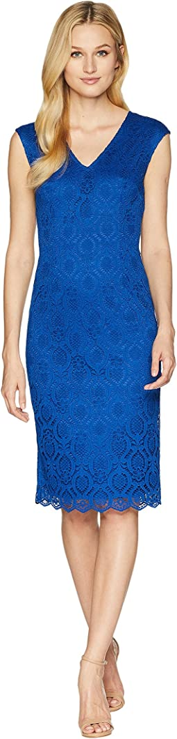 Jade Lace Sheath Dress