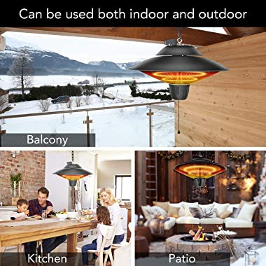 Simple Deluxe with Overheat Protection GLHTODCEILBASICB Patio Outdoor Balcony, Courtyard, Ceiling-Mounted Heater