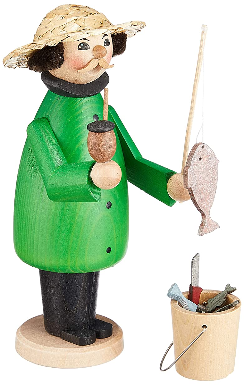 タンカーリラックス排他的kuhnert ミニパイプ人形香炉 釣り人