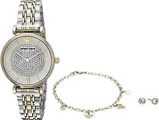Emporio Armani Womens Quartz Watch, Analog Display and Stainless Steel Strap AR8031