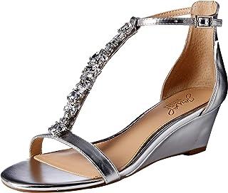 f1a06d8c0df7 Amazon.ca  Silver - Platforms   Wedges   Sandals  Shoes   Handbags