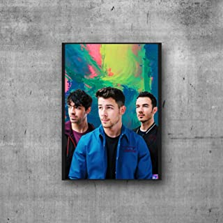 Jonas Brothers Poster Band Artwork Wall Art Illustration (11x14)