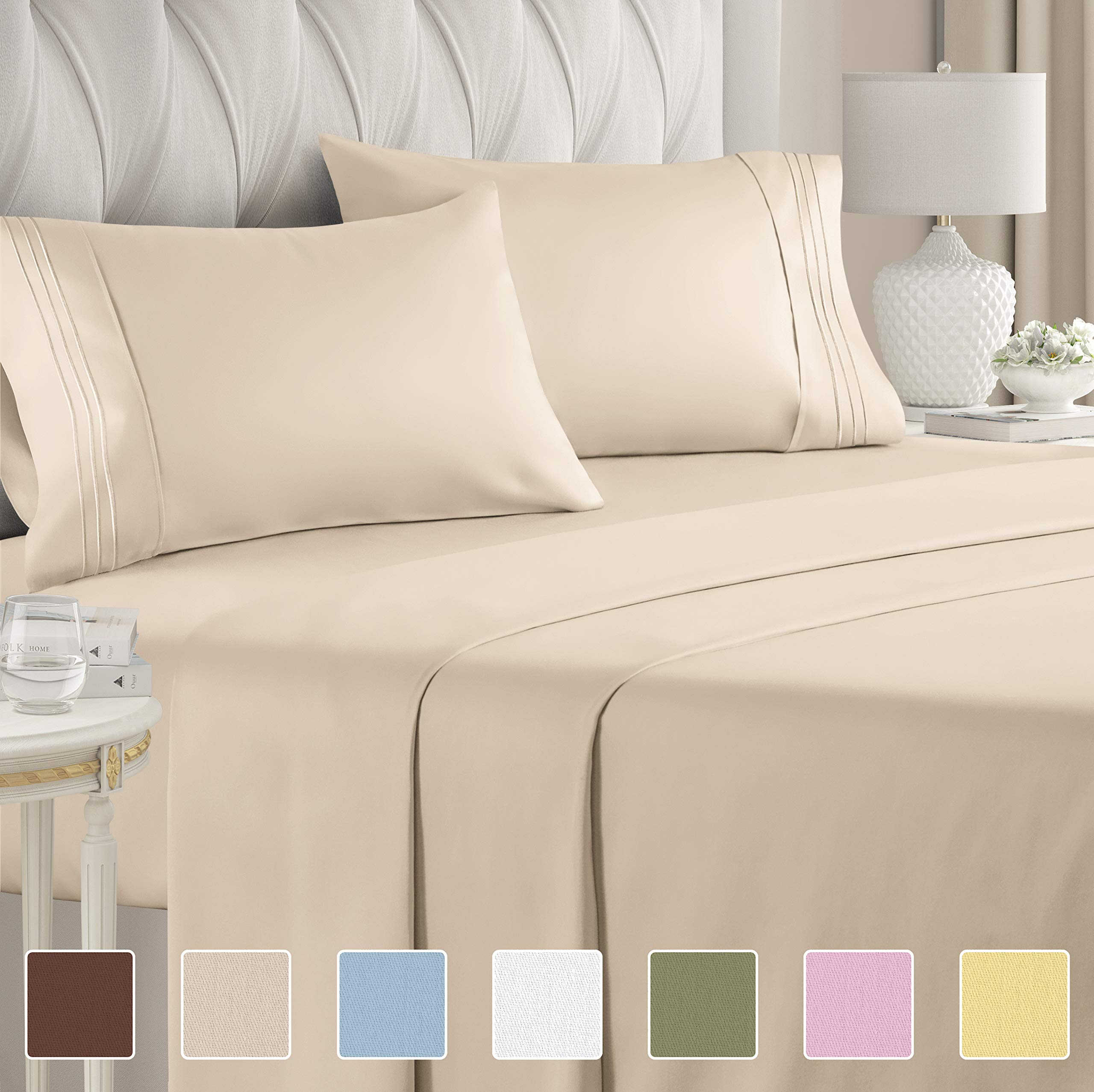 Twin Sheet Set - 3 Piece - College Dorm Room Bed Sheets - Hotel Luxury Bed Sheets - Extra Soft Sheets - Deep Pockets - Easy Fit - Breathable & Cooling Sheets  Bed Sheets - Twin - Twin Mattress Sheets