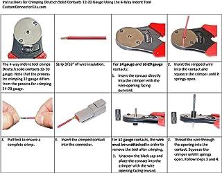 D-sub Dt Series Deutsch Crimping Tool 20-12 Awg