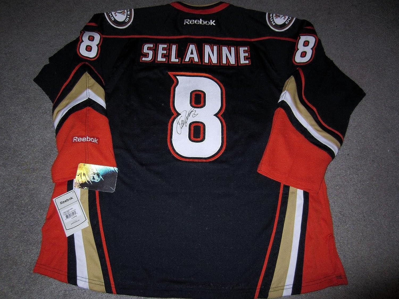 Teemu Selanne Autographed Jersey  w COA New XL HOF  Beckett Authentication  Autographed NHL Jerseys