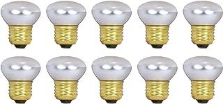 Pack Of 10 40R14 Short Neck 40 Watt E26 Medium Base Reflector R14 Incandescent Light Bulb