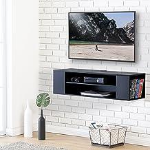FITUEYES Madera Grano Mesa Flotante para TV Mueble para TV