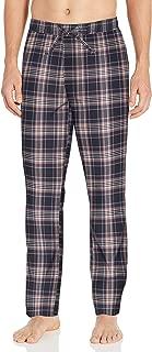 Goodthreads Amazon Brand Men's Stretch Poplin Pajama Pant, Navy Pink Plaid, Small