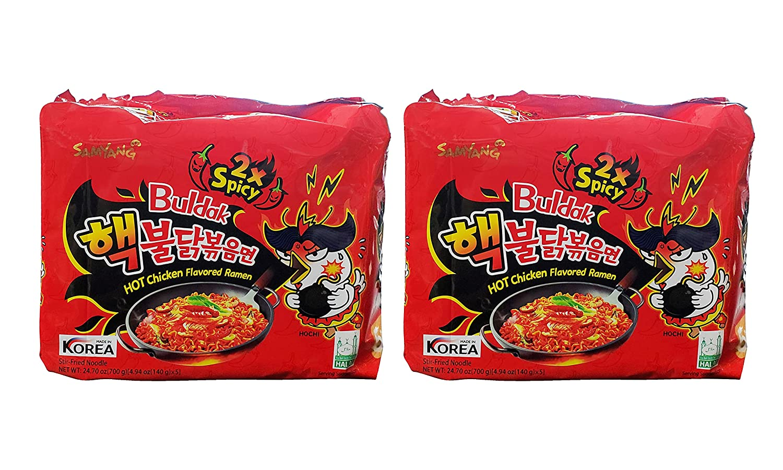 Samyang 2X Spicy Denver Mall Hot Chicken Flavor Ea Pack Grams service Ramen 10 140