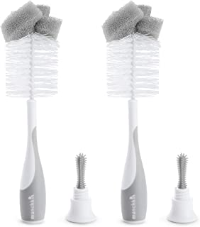 Munchkin Sponge Bottle Brush, 2 Pack, Grey