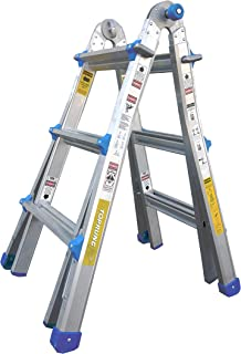 TOPRUNG Model-13 ft. Aluminum Extension Multi-Purpose Ladder with 300 lb. Load Capacity Type IA Duty Rating