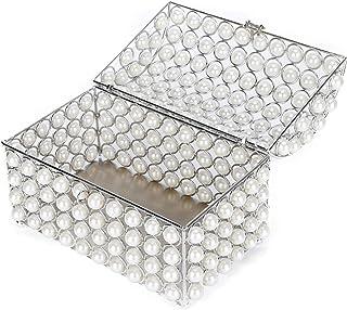 JULYKAI Organisateur de Bijoux, boîte de Maquillage, Fausse Perle exquise boîte de Rangement de Collier Poli, Cadeaux d'an...