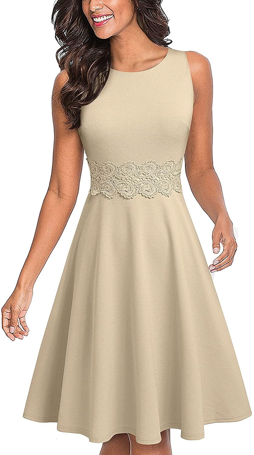 HOMEYEE Women's Some reservation Sleeveless Cocktail Embroidery Summ Party Max 72% OFF A-Line
