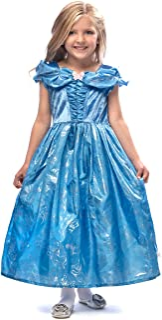 Little Adventures Cinderella Blue Butterfly Princess Dress Up Costume (Medium Age 3-5)