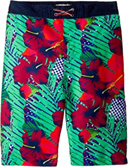 Hawaiian Print Swim Trunks (Toddler/Little Kids/Big Kids)