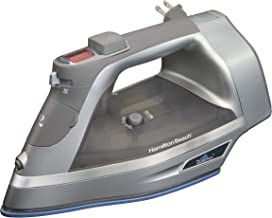Hamilton Beach Steam Iron & Vertical Steamer with Scratch-Resistant Durathon..