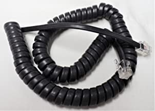 25 Pack of Gray 9' Ft Handset Cords for Cisco IP Phone 7800 7900 8800 SPA Series 7940 7941 7942 7945 7960 7961 7962 8811 8841 8851 SPA303 SPA508G SPA525G2 Coil Curly Charcoal Lot by DIY-BizPhones