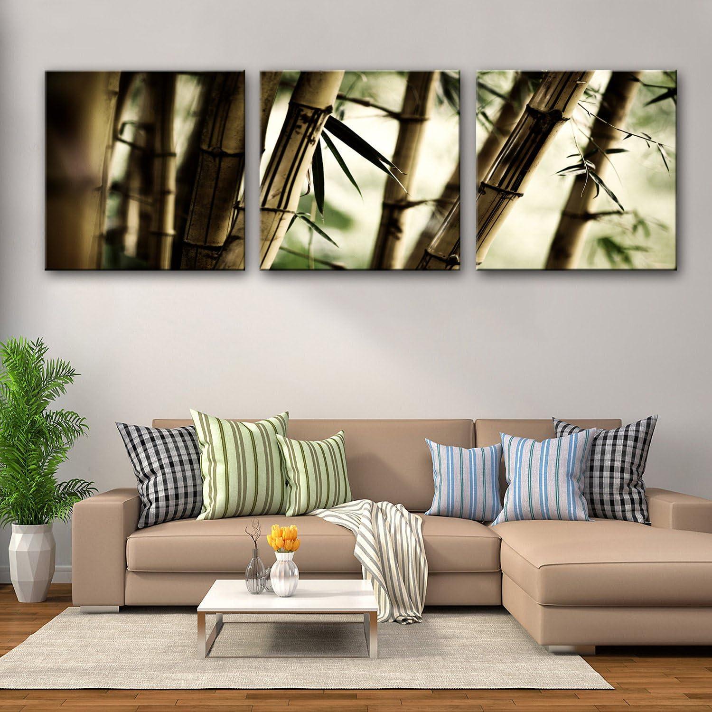 diseñador en linea Hjkhk lienzo Art Art Art bosque de bambú decoración juego de pintura, sin marco pintura 40403  alta calidad