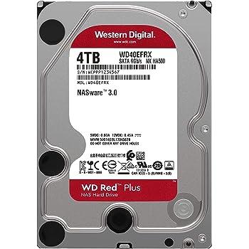"WD Red WD40EFRX Disco duro 3.5"" para dispositivos NAS 5400 RPM Class 4TB, SATA 6 Gb/s, CMR, 64MB Cache, Rojo"