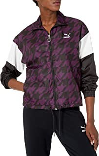 PUMA womens TREND ALL OVER PRINT WOVEN JACKET Transitional Jacket