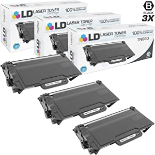 LD Compatible Toner Cartridge Replacement for Brother TN850 High Yield (Black, 3-Pack)