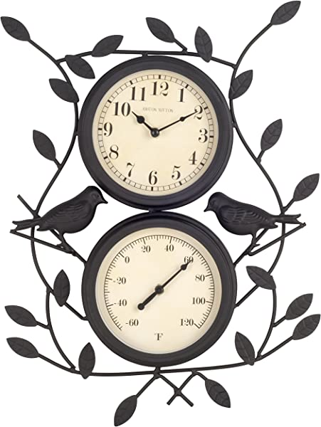 Ashton Sutton H308 15F Bird Wall Clock And Thermometer